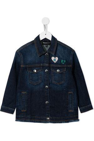 Emporio Armani Girls Denim Jackets - Patch-detail denim jacket