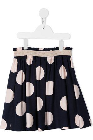 Emporio Armani Girls Printed Skirts - Polka-dot print flared skirt