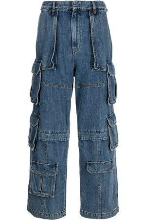 JUUN.J Men Cargo Pants - Multi-pocket denim cargo trousers