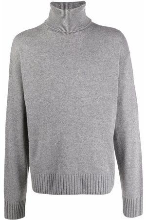 OFF-WHITE Men Turtlenecks - Roll neck knitted jumper - Grey