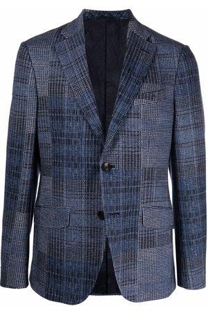 Etro Single-breasted multi-check blazer