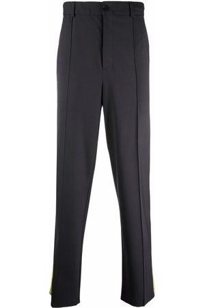 VALENTINO Men Formal Pants - Tailored side-stripe trousers - Grey