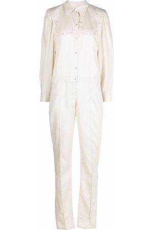 Isabel Marant Long-sleeved lyocell jumpsuit - Neutrals
