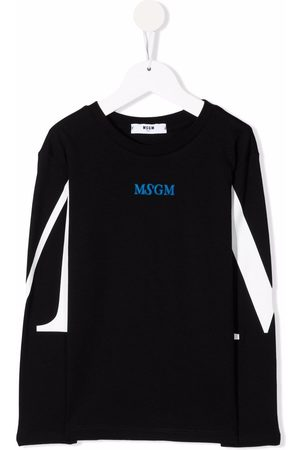 Msgm Logo-print long-sleeve T-shirt