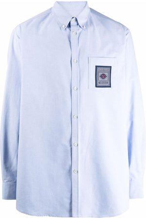 VALENTINO Men Long sleeves - Logo-patch long-sleeve shirt