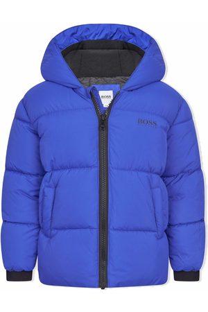 HUGO BOSS Puffer Jackets - Padded hood logo jacket