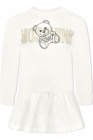 Moschino Baby Casual Dresses - Flared logo-teddy dress