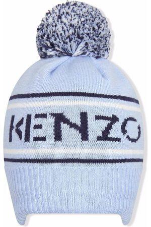 Kenzo Hats - Pom-pom logo hoodie