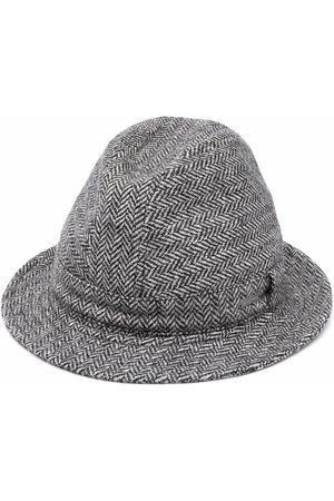 Dsquared2 Men Hats - Zig-zag wool trilby - M072 BIANCO + NERO