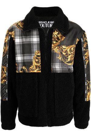 VERSACE Men Sports Jackets - Baroque-print zipped jacket
