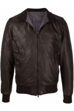 BARBA Men Leather Jackets - Nick leather bomber jacket - 01