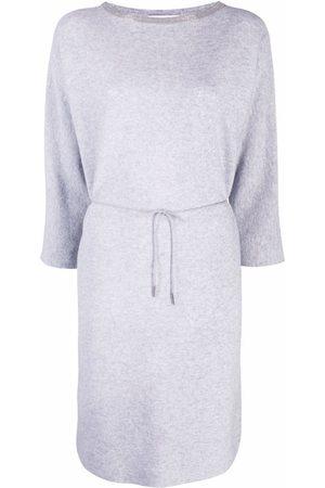 Fabiana Filippi Monili-embellished midi jumper dress - Grey