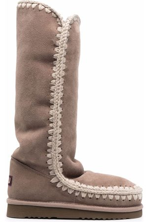 Mou Women Snow Boots - Whipstitch-detail snow boots - Grey