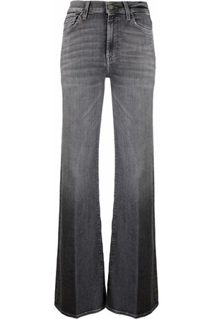 7 for all Mankind High-rise flared jeans - Grey
