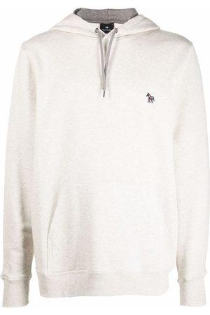 Paul Smith Men Hoodies - Zebra-patch organic cotton hoodie - Neutrals