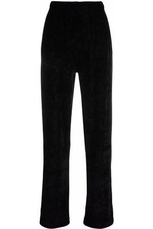 Givenchy Women Straight Leg Pants - Velvet straight-leg trousers