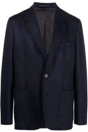 Lanvin Men Blazers - Single-breasted wool blazer
