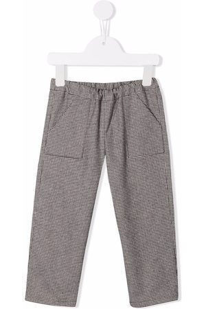 BONPOINT Chinos - Checked straight-leg trousers