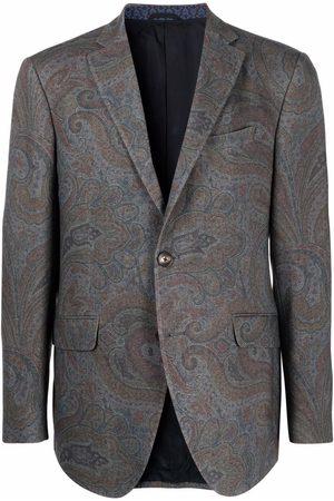 Etro Men Blazers - Paisley print jacket - Grey