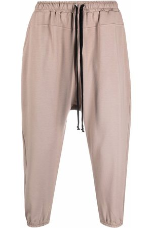 Alchemy Elasticated-waist cotton cropped trousers - Neutrals