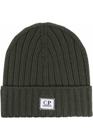 C.P. Company Men Beanies - Logo-patch ribbed beanie
