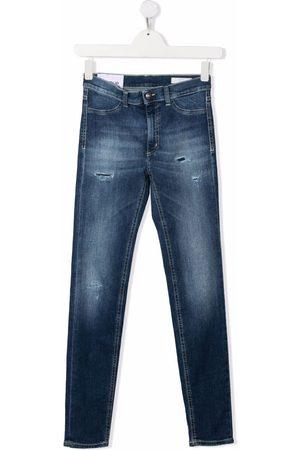 DONDUP KIDS Slim - TEEN distressed slim-cut jeans