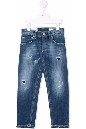 DONDUP KIDS Boys Straight - Distressed straight-leg jeans