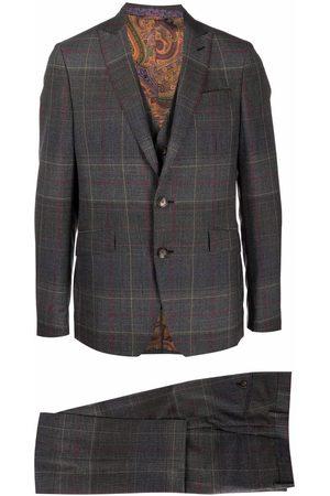 Etro Men Suits - Tailored check suit - Grey