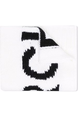 MM6 KIDS Girls Scarves - Logo intarsia knitted scarf