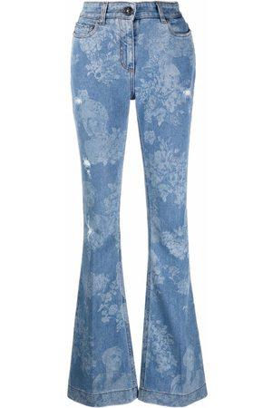 Etro Women Bootcut - Floral-print bootcut jeans