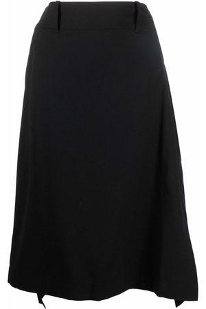 Y-3 Women Midi Skirts - Asymmetric midi skirt
