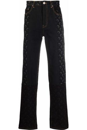 Marine Serre Moon-print straight-leg jeans