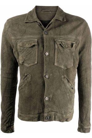 GIORGIO BRATO Men Leather Jackets - Button-up leather jacket