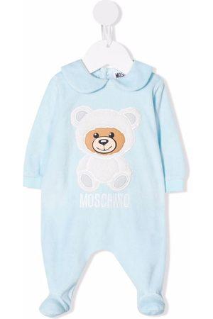 Moschino Pajamas - Peter Pan-collar teddy-detail pyjamas