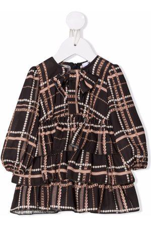 Elisabetta Franchi La Mia Bambina Baby Printed Dresses - All-over print ruffled dress
