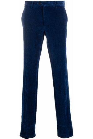 Etro Men Skinny Pants - Slim-fit velvet trousers