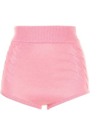 Cashmere In Love Women Shorts - Mimie high-waisted cashmere shorts