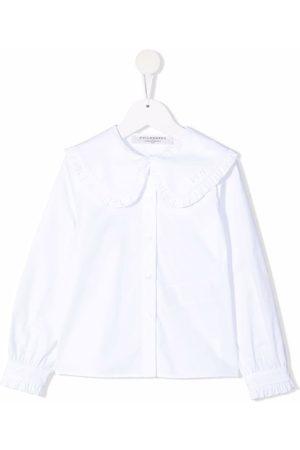 PHILOSOPHY DI LORENZO SERAFINI Ruffle-collar cotton blouse