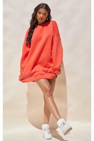 PRETTYLITTLETHING Women Casual Dresses - Washed Drop Shoulder Oversized Sweatshirt Dress
