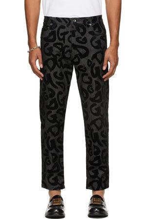 Dolce & Gabbana Men Jeans - Black Flocked DG Jeans