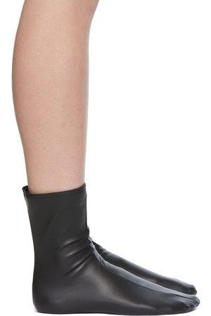 Wolford Women Socks - Black Amina Muaddi Edition Faux-Leather Socks