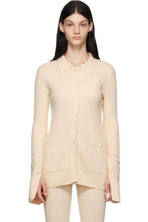 LIVE THE PROCESS Women Cardigans - Off-White Tuxedo Cardigan