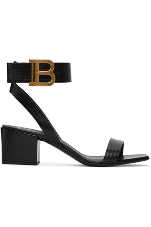 Balmain Women Heeled Sandals - Black Stella Heeled Sandals