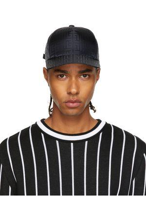 Balmain Men Caps - Black Nylon Logo Cap