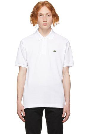 Lacoste Men Polo Shirts - White Regular Fit Polo