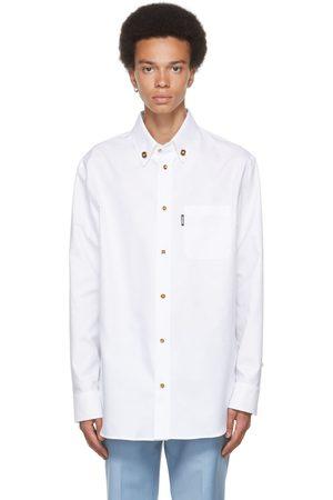 VERSACE Men Shirts - White Cotton Medusa Button Shirt