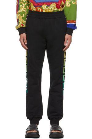 VERSACE Black & Multicolor Greca Lounge Pants