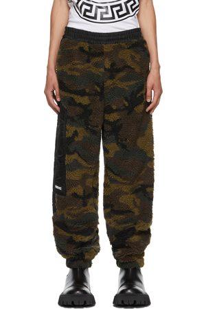 VERSACE Men Sweats - Green Fleece Camouflage Lounge Pants