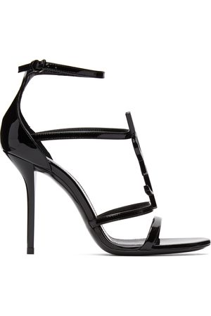 Saint Laurent Black Cassandra 100 Heeled Sandals