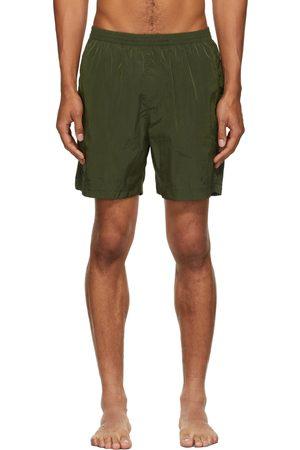TRUE TRIBE Men Swim Shorts - Khaki Neat Steve Swim Shorts
